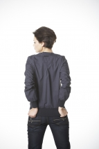 nylon cardigan tina, dark blue