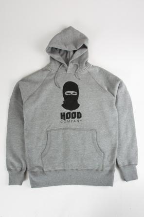 Hoody Sturmmaske, grau melange