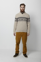 knit humanempire, l. beige w. d. navy