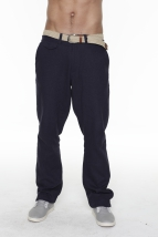 linen pants rainer, navy