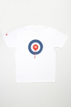 t-shirt roosters eye, white